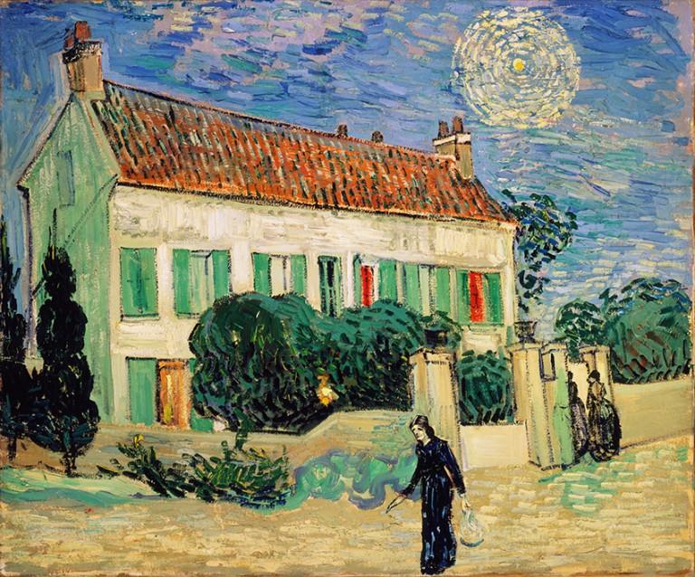 maison-sous-un-ciel-nocturne_-_white-house-at-night